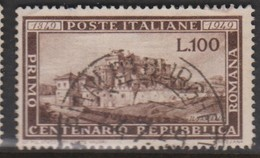 Italy Republic S 600 1949 Centenary Of Roman Republic,used - 6. 1946-.. Republic