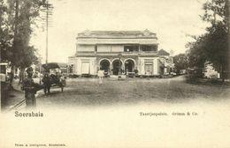 Indonesia, JAVA SOERABAIA, Jalan Pasar Besar, Bakery Grimm & Co. (1899) Postcard - Indonesië