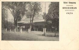 Indonesia, JAVA SOERABAIA, Hotel Simpang, Broekman (1899) Postcard - Indonesië