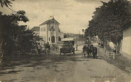 Indonesia, JAVA SOERABAIA, Goebeng, Horse Cart, Old Car (1910s) Postcard - Indonesië