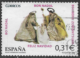 Spain SG4402 2008 Christmas 31c Good/fine Used [40/32493/6D] - 1931-Today: 2nd Rep - ... Juan Carlos I
