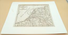 Kopergravure Verenigde Provincies Der Nederlanden 1748, Cartograaf Gilles ('Le Sieur') Robert De Vaugondy - Geographische Kaarten