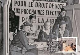 France 2019 - Droit De Vote Des Femmes Maximum Card - Croix-Rouge