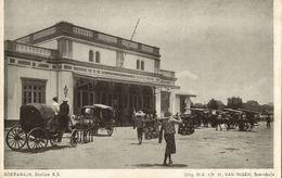 Indonesia, JAVA SOERABAIA, Railway Station (1910s) Postcard (2) - Indonesië