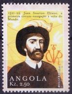Explorer Juan S Elcano, World 1st Circumnavigation, Angola 2000 MNH Millennium   ( - Esploratori