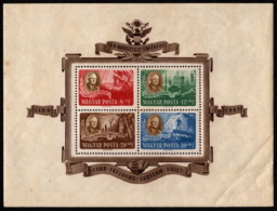HUN SC #B198Dff MNH SS 1947Roosevelt And Allegories CV $125.00 - Blocs-feuillets