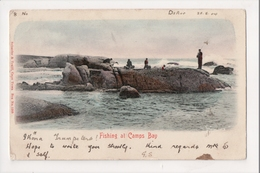 I-024 Camps Bay Cape Town South Africa Fishing Off Rocks 1904 UDB Postcard - Other