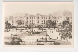 I-306 Lima Peru Palacio De Gobierno Real Photo Postcard - Postcards