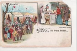 I-328 Gruss Vom Bremer Freimarkt Fair A Henry Litho Early Postcard - Other