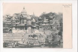 I-369 British India Benares Burning Ghat Early UDB Postcard - Postcards