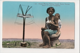 I-371 Philippines Luzon Infugao Woman Rolling Thred Nueva Viscaya Postcard - Postcards