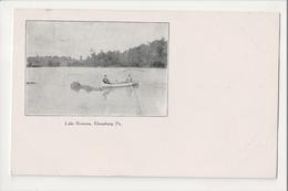 I-394 Ebensburg Pennsylvania Lake Rowena Row Boat Early UDB Postcard - United States