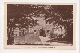 I-407 Cresson Pennsylvania Mount Aloysius Entrance To Convent Postcard - United States