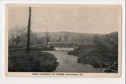 I-411 Barnesboro Pennsylvania View Looking Up The Creek Bridge Postcard - United States