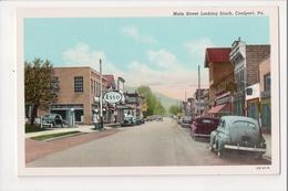 I-421 Coalport Pennsylvania Main Street Looking South Postcard - United States