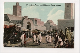 I-582 Cairo Egypt Principal Street And Mosque Early Postcard - Other