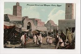 I-582 Cairo Egypt Principal Street And Mosque Early Postcard - Postcards