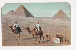 I-624 Egypt The Three Pyramids Of Gizeh Postcard - Postcards