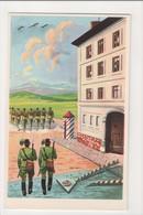 I-672 Hungary Military Vintage Postcard Magyar Biztonsag Ketten Postcard - Postcards