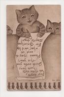 I-667 Three Adorable Little Kittens Cats Writing Santa Christmas Letter Postcard - Otros
