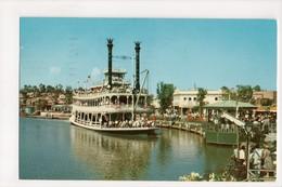 I-708 Disneyland Frontierland Mark Twain 1957 Postcard - Disneyland