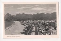 I-788 Brazil Rio De Janeiro Postcard Lebloin Beach Scene - Postcards