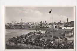 I-796 Montevideo Uruguay Real Photo Postcard People At Docks Scene - Postcards