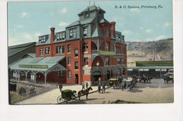 I-825 Pittsburg Pennsylvania B&O Railroad Train Station Postcard - United States
