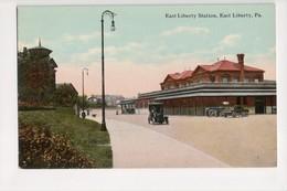 I-826 East Liberty Pennsylvania Railroad Train Station Postcard - United States