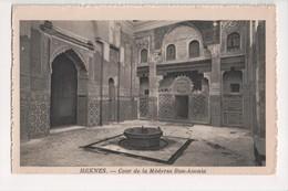I-908 Meknes Maroc Morocco Africa Cour De La Medersa Bou-Anania Vintage PC - Other