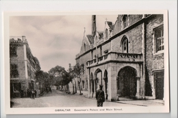 I-940 Gibraltar Vintage Postcard Governor's Palace And Main Street - Postcards