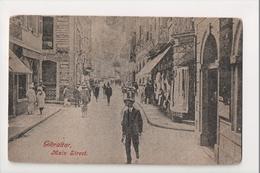I-957 Gibraltar Vintage Postcard Main Street Scene Store Fronts - Postcards