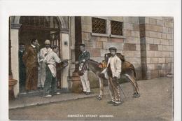 I-960 Gibraltar Vintage Postcard Street Vendors And Donkey - Postcards