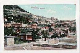 I-962 Gibraltar Vintage Postcard Rosia And Barracks - Postcards