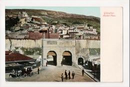 I-963 Gibraltar Vintage Postcard Market Place - Postcards