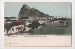 I-969 Gibraltar Vintage Postcard The Rock From Linea Bull Ring UDB - Postcards