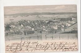 I-982 Gibraltar Vintage Postcard Birdseye View Of The Town 1901 - Postcards