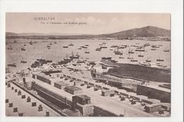 I-984 Gibraltar Vintage Postcard Top Of Casemates And Spanish Ground - Postcards