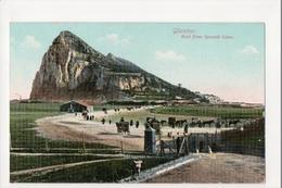 I-987 Gibraltar Vintage Postcard Rock From Spanish Lines - Postcards