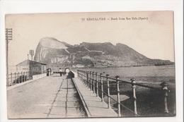 I-989 Gibraltar Vintage Postcard Rock From Sea Side (Spain) - Postcards