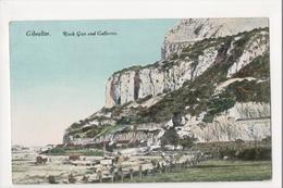 I-991 Gibraltar Vintage Postcard Rock Gun And Galleries - Postcards