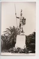 J-002 Greece Vintage Postcard Corfou Real Photo Statue - Postcards