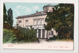 J-001 Greece Vintage Postcard Corfou Villa Royale Mon Repos UDB - Postcards