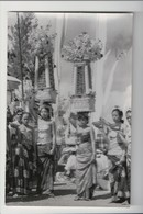 J-014 Indonesia Vintage Postcard Young Girls Ceremony Real Photo - Postcards
