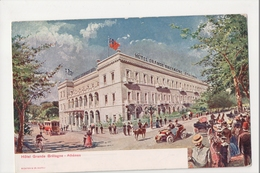 J-009 Greece Vintage Postcard Athenes Hotel Grande Bretagne - Postcards