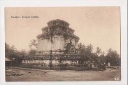 J-010 Indonesia Vintage Postcard Djokja Mendoet Temple - Postcards