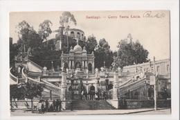J-135 Santiago Chile Cerro Santa Lucia Early Postcard - Postcards