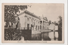 J-158 Warschau Warsaw Warsawa Poland Postcard Hintere Fassade Schlosses Lazienki - Postcards