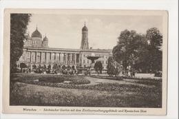 J-159 Warschau Warsaw Warsawa Poland Postcard Sachsischer Garten Russischem Dom - Postcards