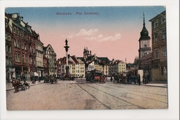 J-164 Warschau Warsaw Warsawa Poland Postcard Plac Zamkowy - Postcards